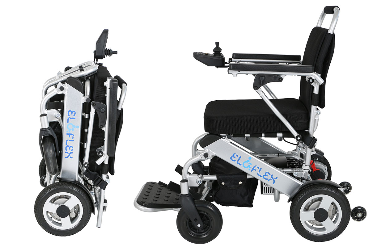 Eloflex L Is A Compact Folding Electric Wheelchair With Low Weight Eloflex Foldable Power Wheelchair